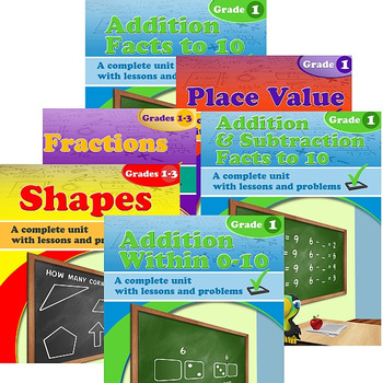 Grade 1 Math Units Bundle