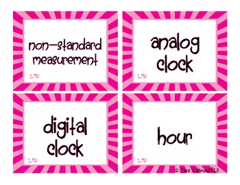 Grade 1 Math Word Wall Cards~Common Core Standards