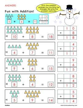 grade 1 addition sample worksheet making math visual by. Black Bedroom Furniture Sets. Home Design Ideas