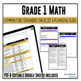 Grade 1 Math Common Core Checklist