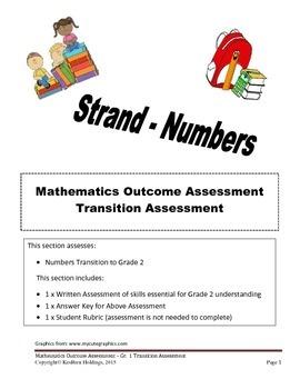 Grade 1 - Mathematics Transition Assessment