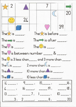 Grade 1 Maths 1:Counting, Before, After, Between, More & Less Than