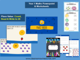 Grade 1 Maths Powerpoint & Worksheets: Count, Read & Write