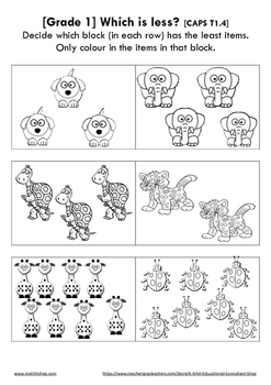 Which is less? [1] (Grade 1)