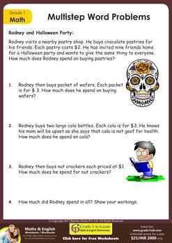 Grade 1 Maths Workbook: Full Year practice, 351 useful worksheets