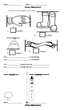 Grade 1 Measurement Assessments