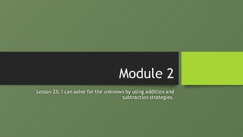 Interactive Eureka PPT: Grade 1 Module 2 Lesson 23