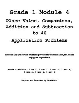Grade 1 Module 4 Application Problems