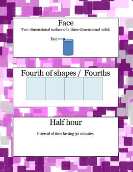 Grade 1 Module 5 Vocabulary Cards