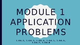 Grade 1 Module One Application Problems PPT editable