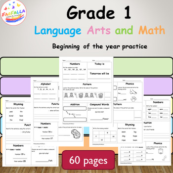 Grade 1 L.A and Math Practice Part 1