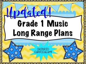 Grade ONE Music Long Range Plans (Ontario Curriculum Based) Primary