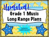 Grade ONE Music Long Range Plans (Ontario Curriculum Based