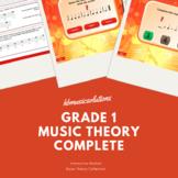 Grade 1 Music Theory Interactive And PDF Bundle