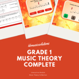 Grade 1 Music Theory Interactive And PDF Bundle