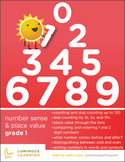 Grade 1 Number Sense & Place Value Workbook: Making Math Visual