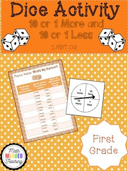 Grade 1 - Number and Operations in Base Ten-Dice Game-FREEBIE
