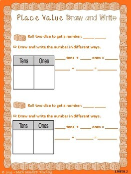 Grade 1 - Number and Operations in Base Ten-Dice Games