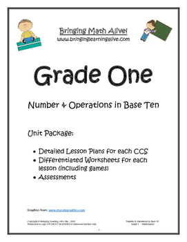 Grade 1 - Numbers & Operations in Base-10 (No Prep, Aligned with CCS)