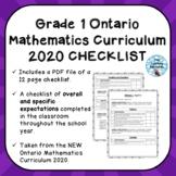 Grade 1 ONTARIO MATHEMATICS CURRICULUM 2020 EXPECTATIONS C
