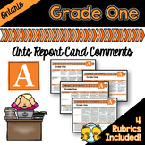 Grade 1 Ontario Arts Report Card Comments