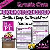 Grade 1 Ontario Health and Physical Education Report Card Comments