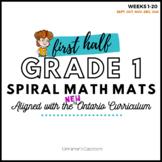 Grade 1 Ontario Math    Spiral Math Mats   Weeks 1-20