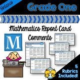 Grade 1 Ontario Mathematics Report Card Comments