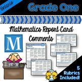 Grade 1 Ontario Mathematics Report Card Comments