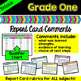 Grade 1 Ontario Report Card Comments