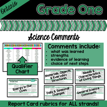 Grade 1 Ontario Science Report Card Comments