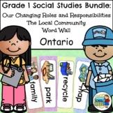 Grade 1 Ontario Social Studies Bundle 2018