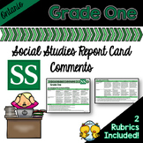Grade 1 Ontario Social Studies Report Card Comments