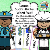 Grade 1 Ontario Social Studies Word Wall