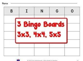 Open & Closed Bingo Game BUNDLE Grade 1