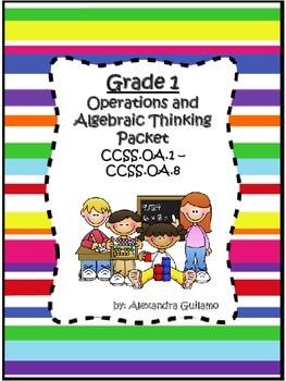 1st Grade Operations & Algebraic Thinking-CCSS Aligined Packet Spanish & English