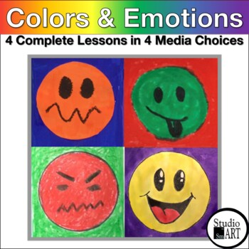Grade 1 Opposite Colors Emotions Painting Lesson