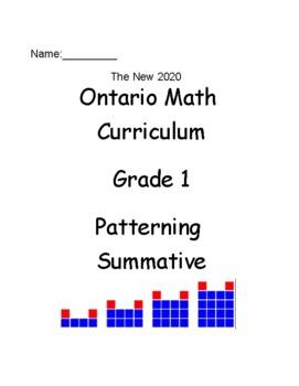 Grade 1 Patterning Test (Ontario)