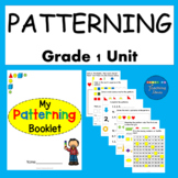 1st Grade Math Worksheets Patterning Unit Print and Go!