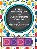 Grade 1 Patterning Unit aligned with Alberta Curriculum