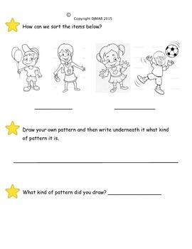 Grade 1 Patterns Quiz