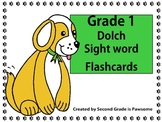 """Sight Words: Grade 1 """"Pawsome"""" Dolch Word Flashcards"""