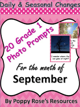 Grade 1 Photo Writing Prompts for Daily and Seasonal Changes