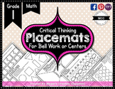Grade 1 Placemats {MATH} Bell Work or Centers