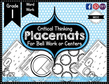 Grade 1 Placemats {Word Wall} Bell Work or Centers