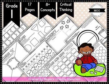 Grade 1 Placemat Bundle {Word Wall & Math} Bell Work or Centers