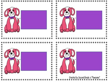 """Sight Words: Grade 1 Primer """"Pawsome"""" Dolch Word Flashcards"""