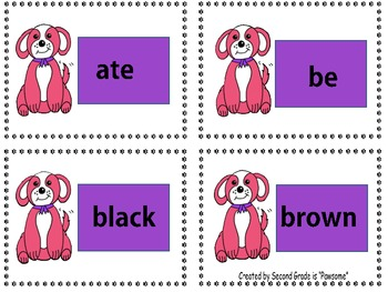 "Sight Words: Grade 1 Primer ""Pawsome"" Dolch Word Flashcards"