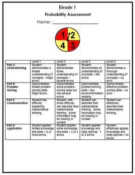 Grade 1 Probability Assessment