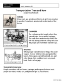 [Grade 1] Literature Assessment 2: Transportation Then and Now -Guide+Answer Key